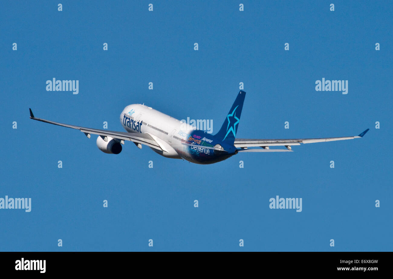 Air Transat Airbus A330-243, Gatwick Airport, West Sussex, England - Stock Image