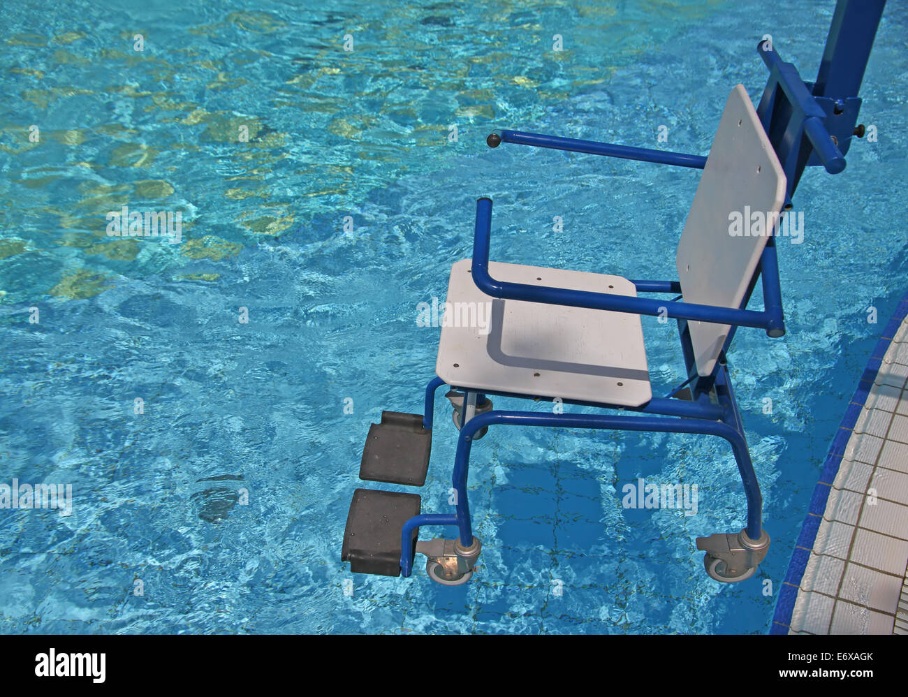 wheelchair for the disabled for use in swimming pool 2 Stock Photo ...