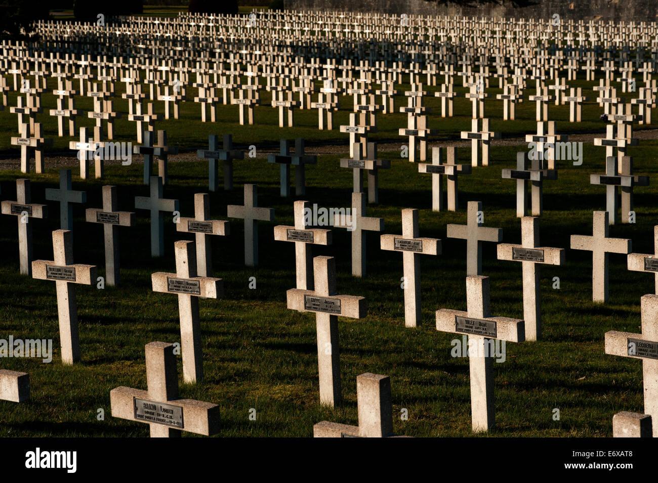 Verdun WW1 Battlefield site, Verdun-sur-Meuse, France. March 2014 Seen here: The Cimetiere de Faubourg Pave, the - Stock Image