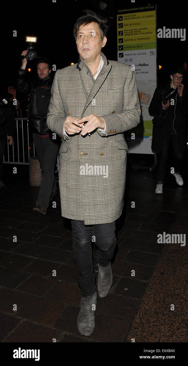 aa9913fcf7 Celebrities at Paris Fashion Week arriving for Etam Catwalk Show at Bourse  du Commerces Featuring  Jamie Hince Where  Paris
