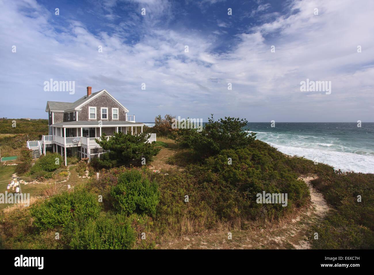 Vacation home on Block Island, Rhode Island, USA - Stock Image