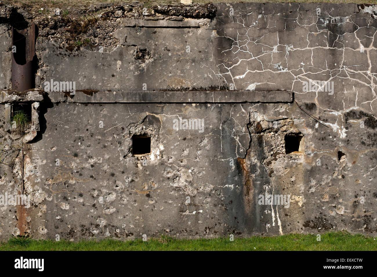 Verdun WW1 Battlefield site, Verdun-sur-Meuse, France. March 2014 Seen here : Verdun Ouvrage de Froideterre Battlefield - Stock Image