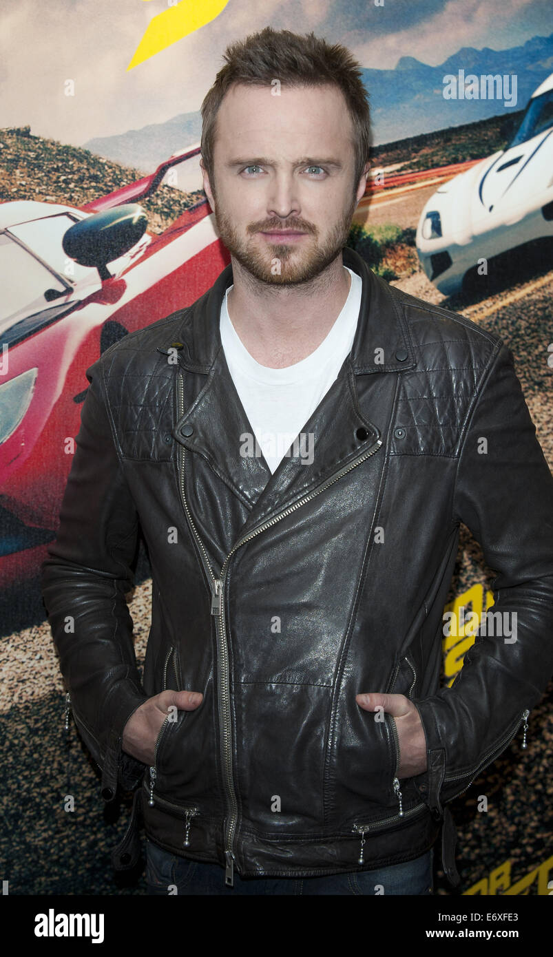 VIP film screening of 'Need for Speed' - Arrivals Featuring: Aaron