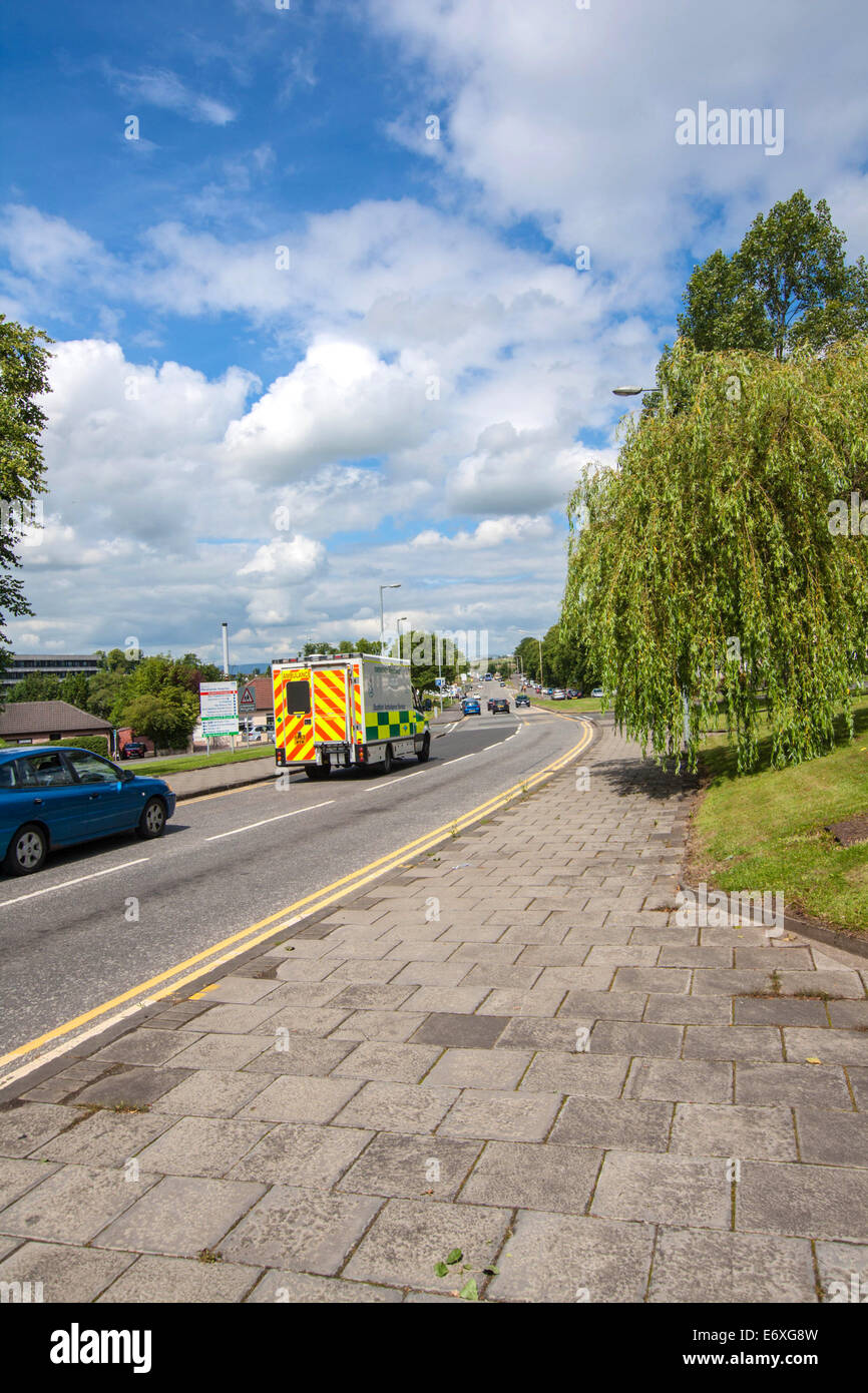 Streets of Airdrie, North Lanarkshire in Scotland - Stock Image