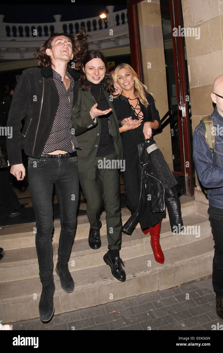 The 2014 NME Awards at the Brixton Academy - Departures  Featuring: Abbey Clancy Where: London, United Kingdom When: Stock Photo