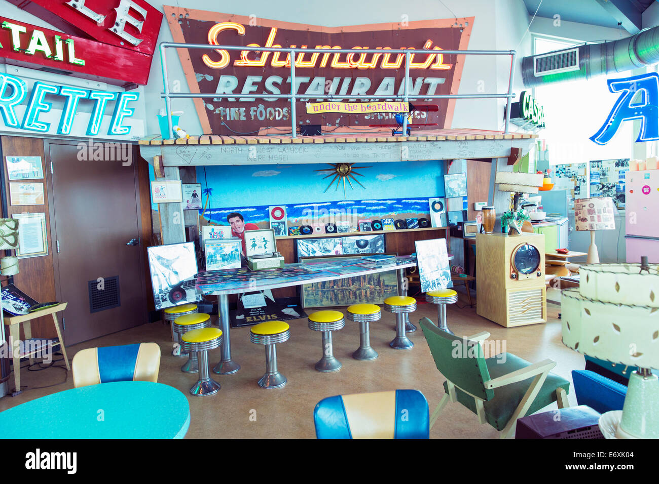 USA,New Jersey,Wildwood's,Doo Wop Experience and Neon Sign Garden - Stock Image