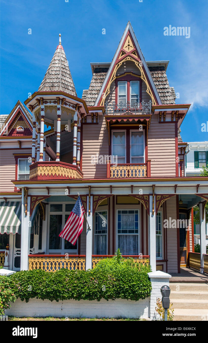 USA,New Jersey,Cape May, Victorian home - Stock Image