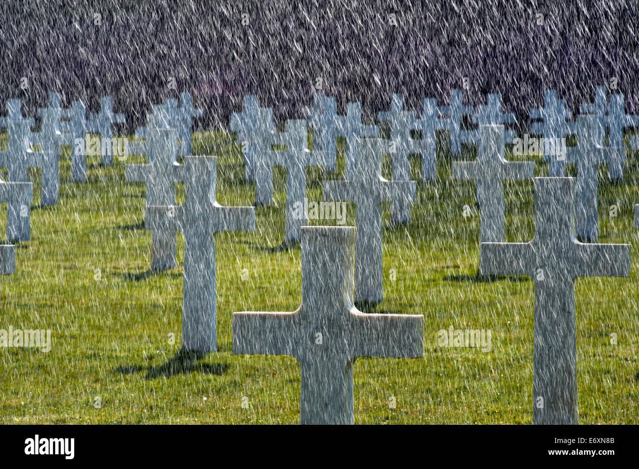 Battle of Belleau Wood (  bois de Brigade de Marine ) WW1, Aisne-Marne American Cemetery and Memorial,Belleau France. - Stock Image