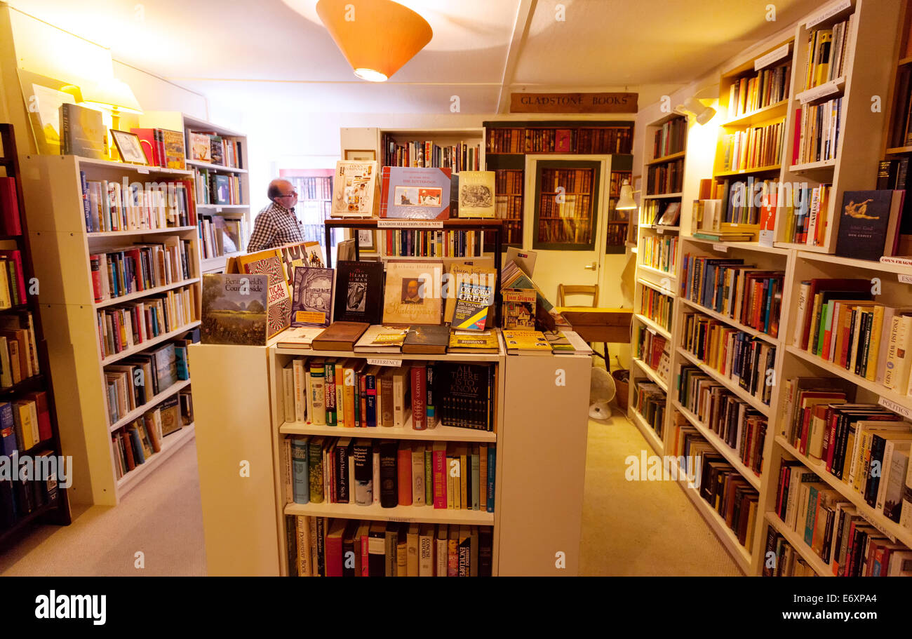 Second hand bookshop interior, Lincoln, Lincolnshire England UK - Stock Image