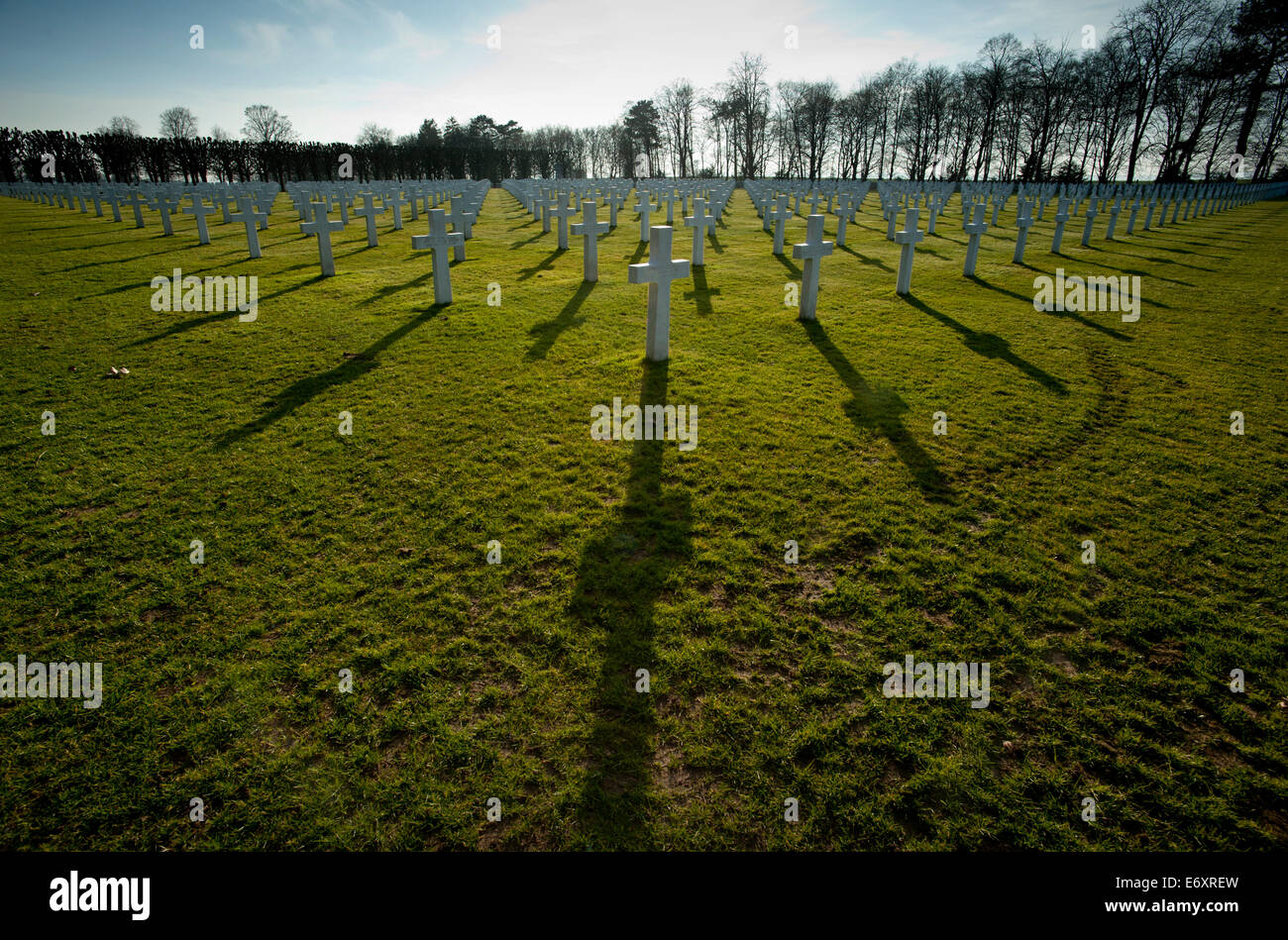 St Mihiel American Cemetery and Memorial, Thiaucourt,Saint-Mihiel Salient Battlefield France. March 2014 - Stock Image