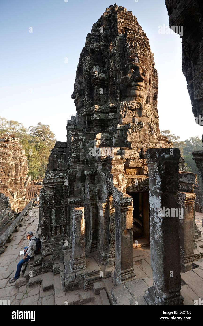 Bayon Temple, Angkor Archaeological Park, Siem Reap, Cambodia - Stock Image