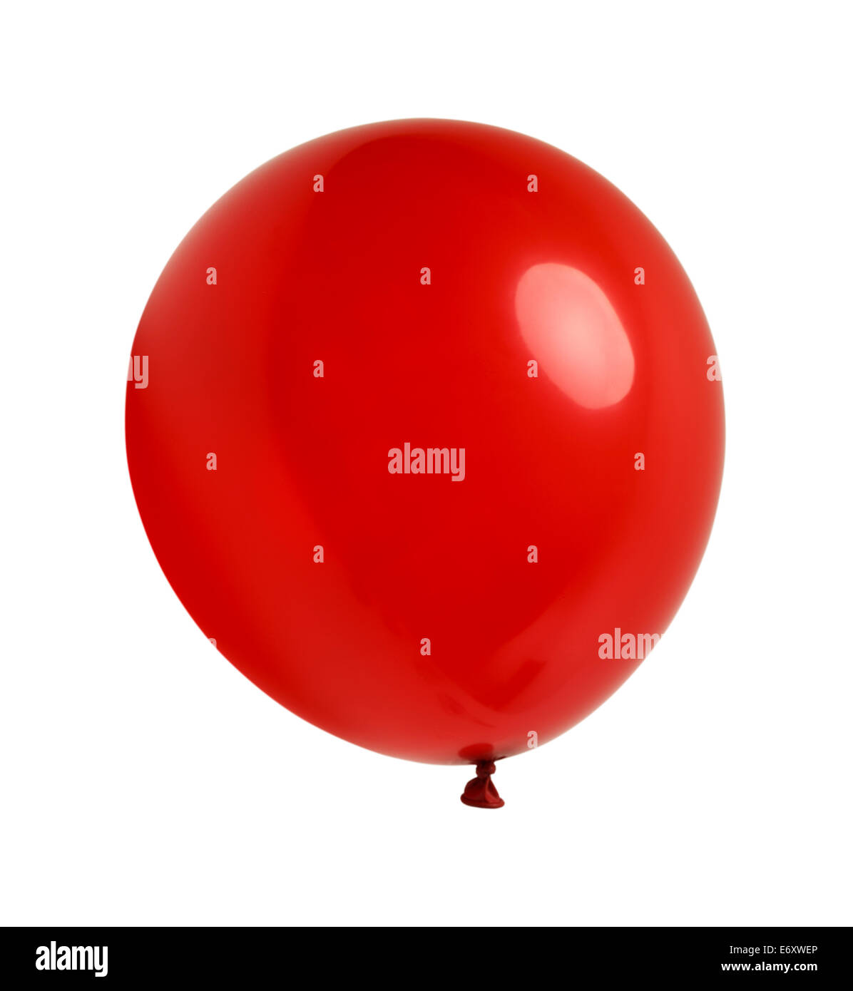Latex Balloon Floating and Isolated on White Background. - Stock Image