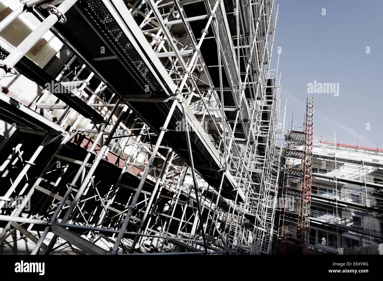 giant scaffolding constructions - Stock Image