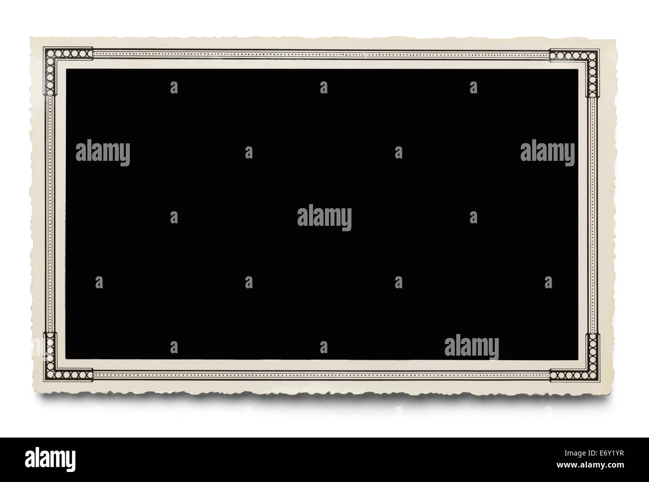 Old Blank Photo Isolated on White Background. - Stock Image