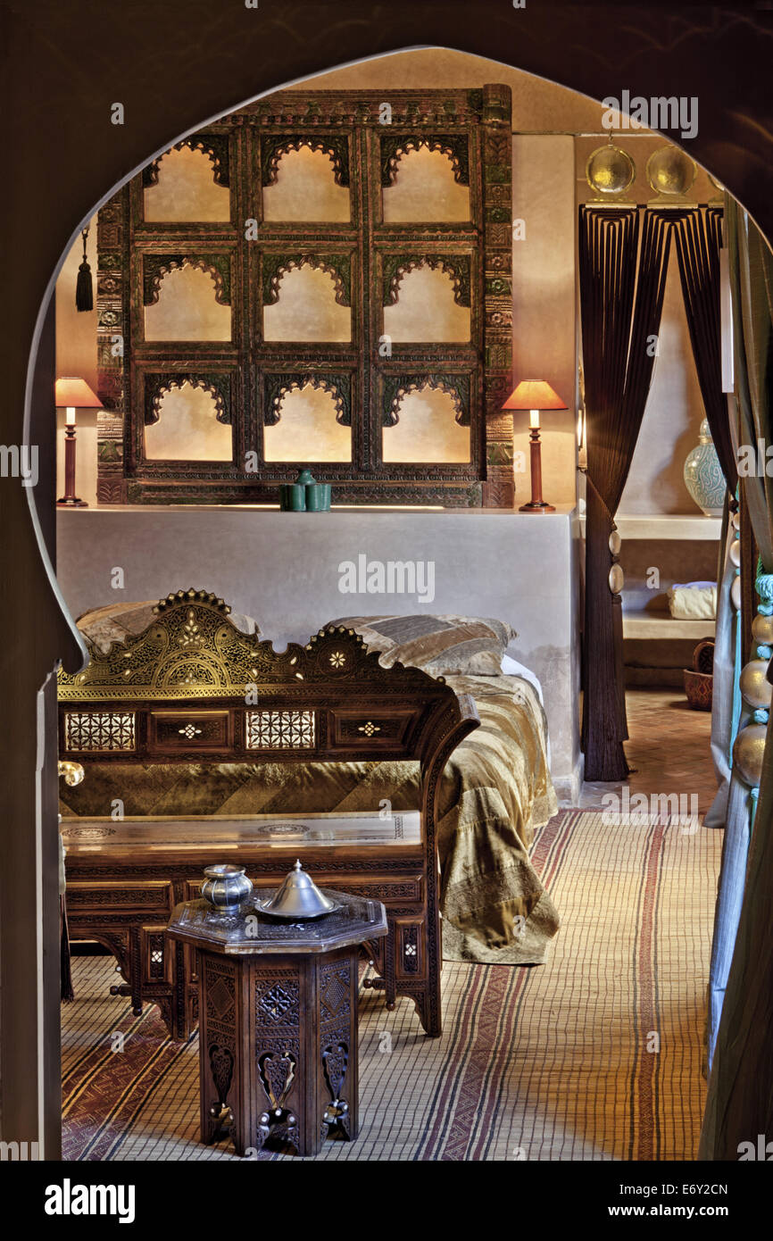 Chameleon room, Riad Noir D'Ivoire, Marrakech, Morocco - Stock Image