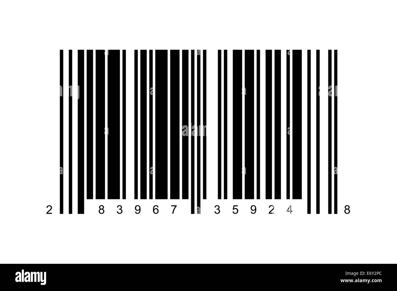 Large Bar Code Isolated on White Background. - Stock Image