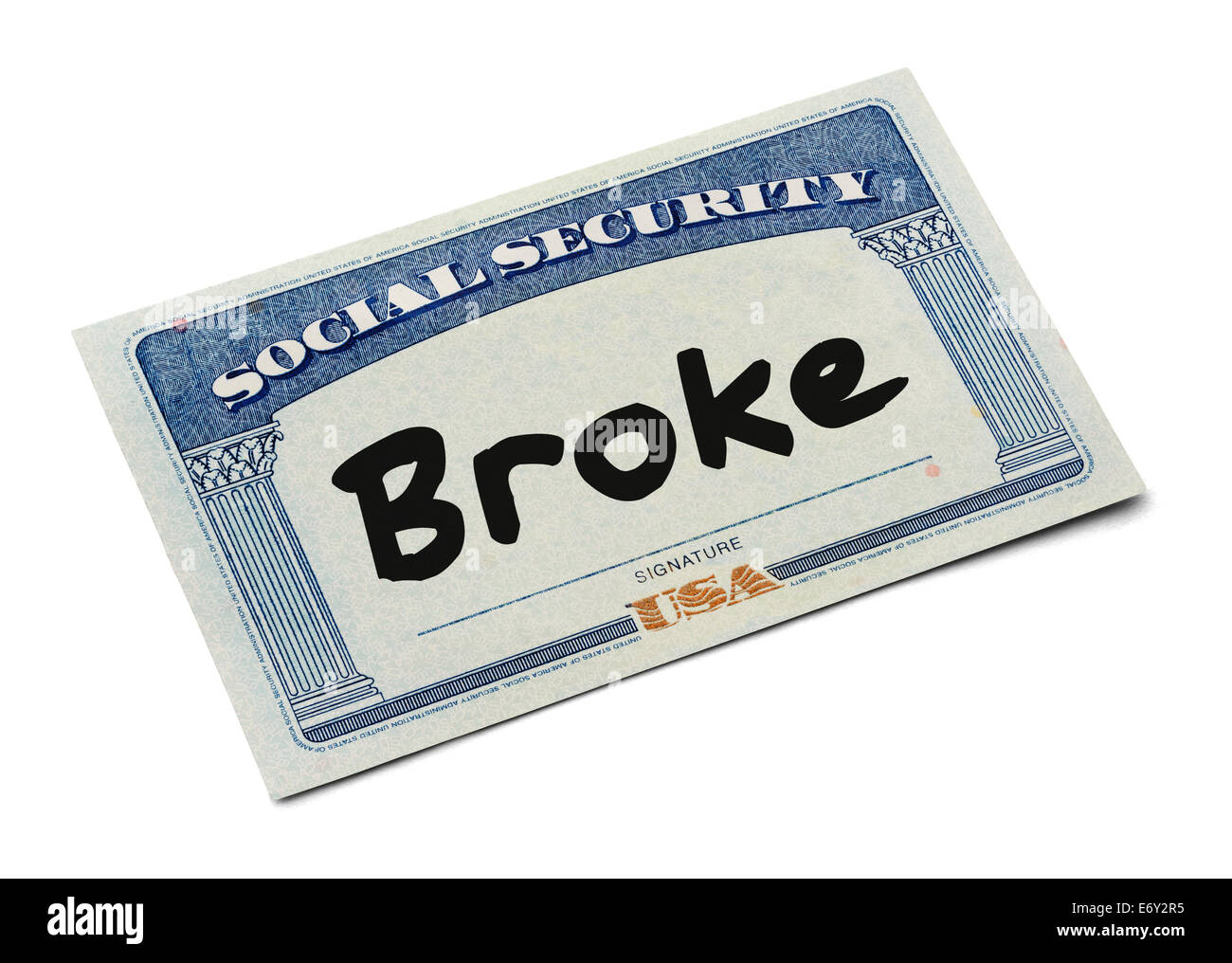 Photo Social Isolated Stock Broke Card Word - With 73124329 Security On The Alamy White