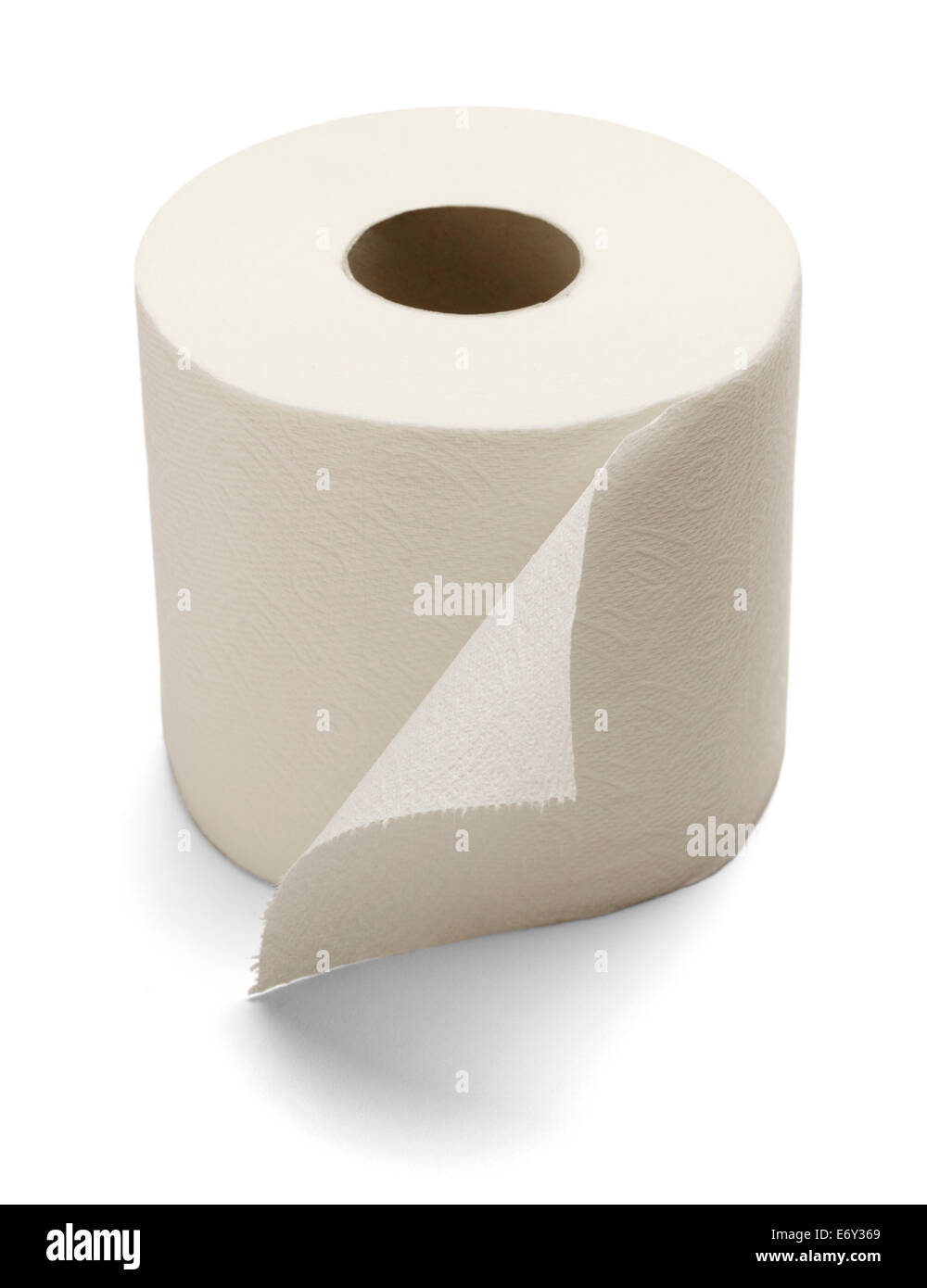 Soft Toilet Paper Isolated on a white background. - Stock Image