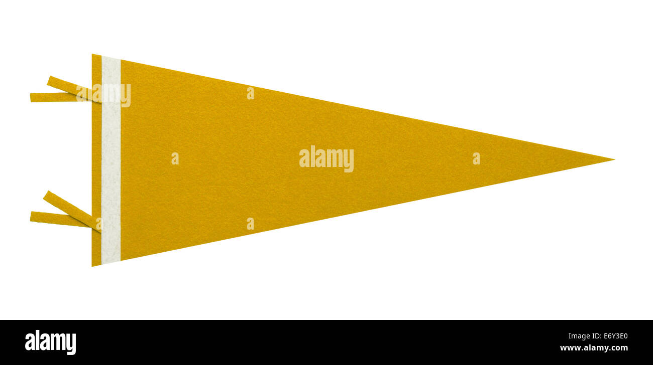 Felt Pennant with Copy Space Isolated on White Background. - Stock Image