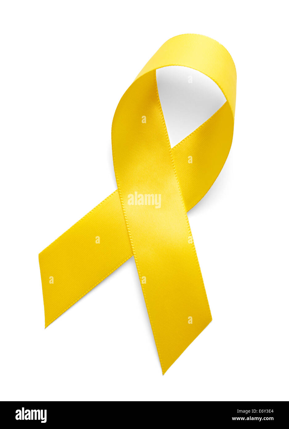 Yellow Support the Troops Ribbon Isolated on White Background. - Stock Image