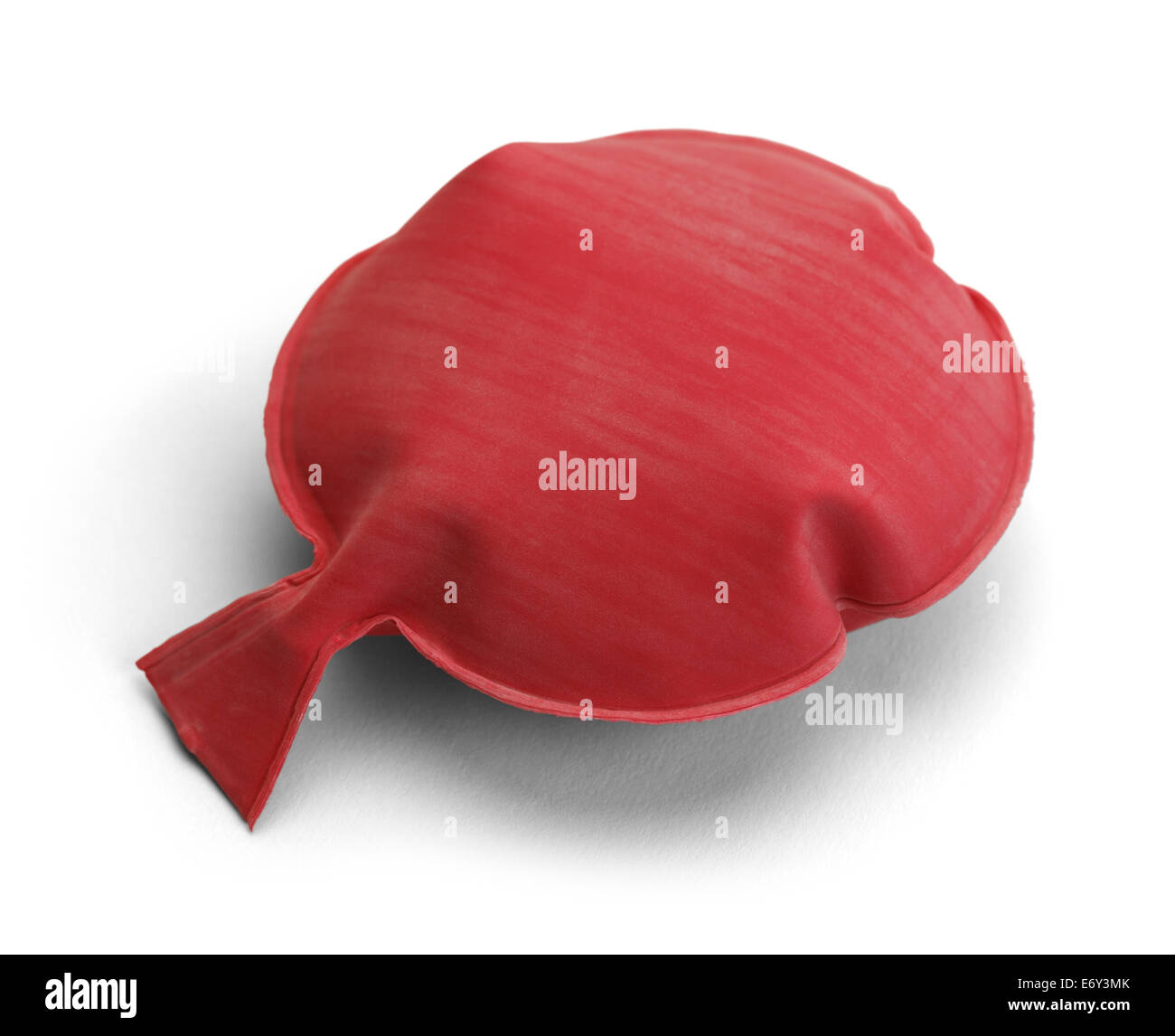 Red Rubber Noise Maker Isolated on a White Background. - Stock Image