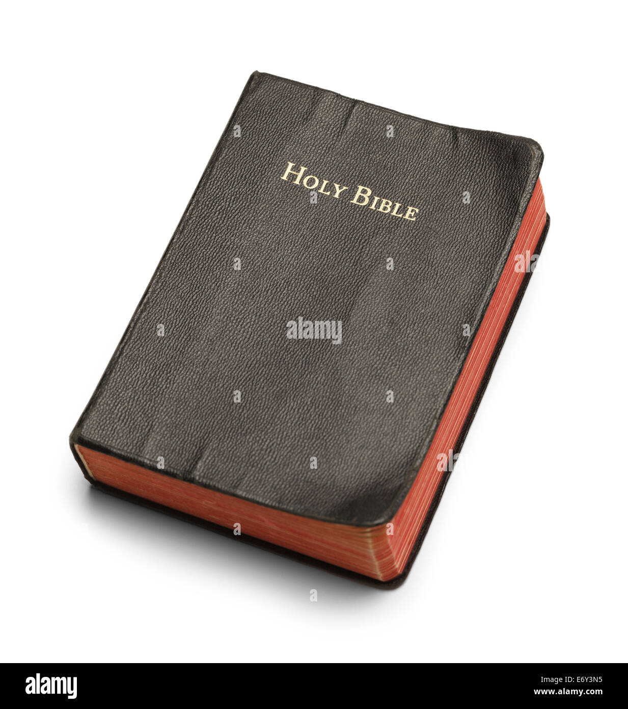 f75c35ebd376a Well Used Bible with Red Pages Isolated on White Background Stock ...