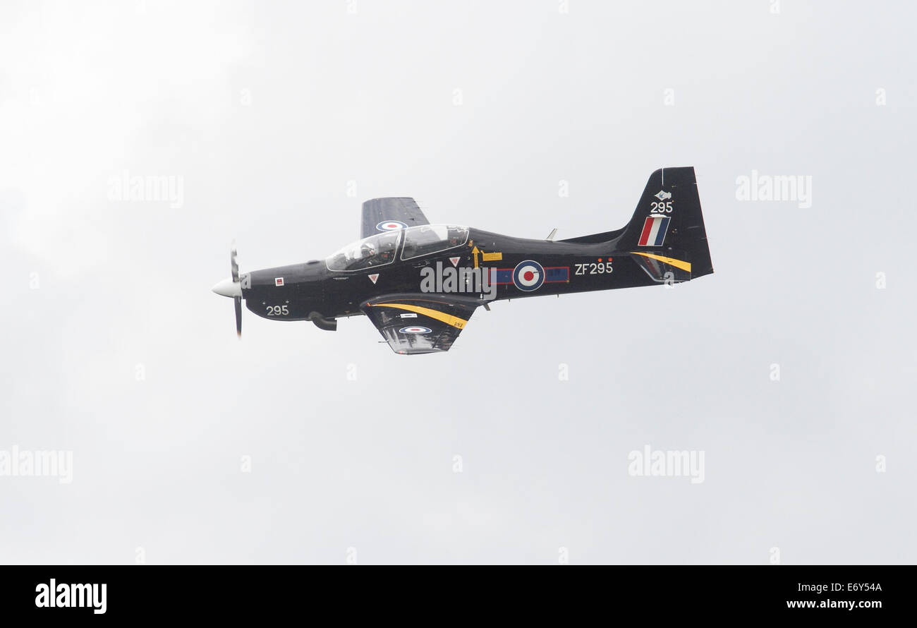 Short Tucano T1 ZF295 and Short Tucano T1 ZF407 The Short Tucano is a two-seat turboprop basic trainer built by - Stock Image