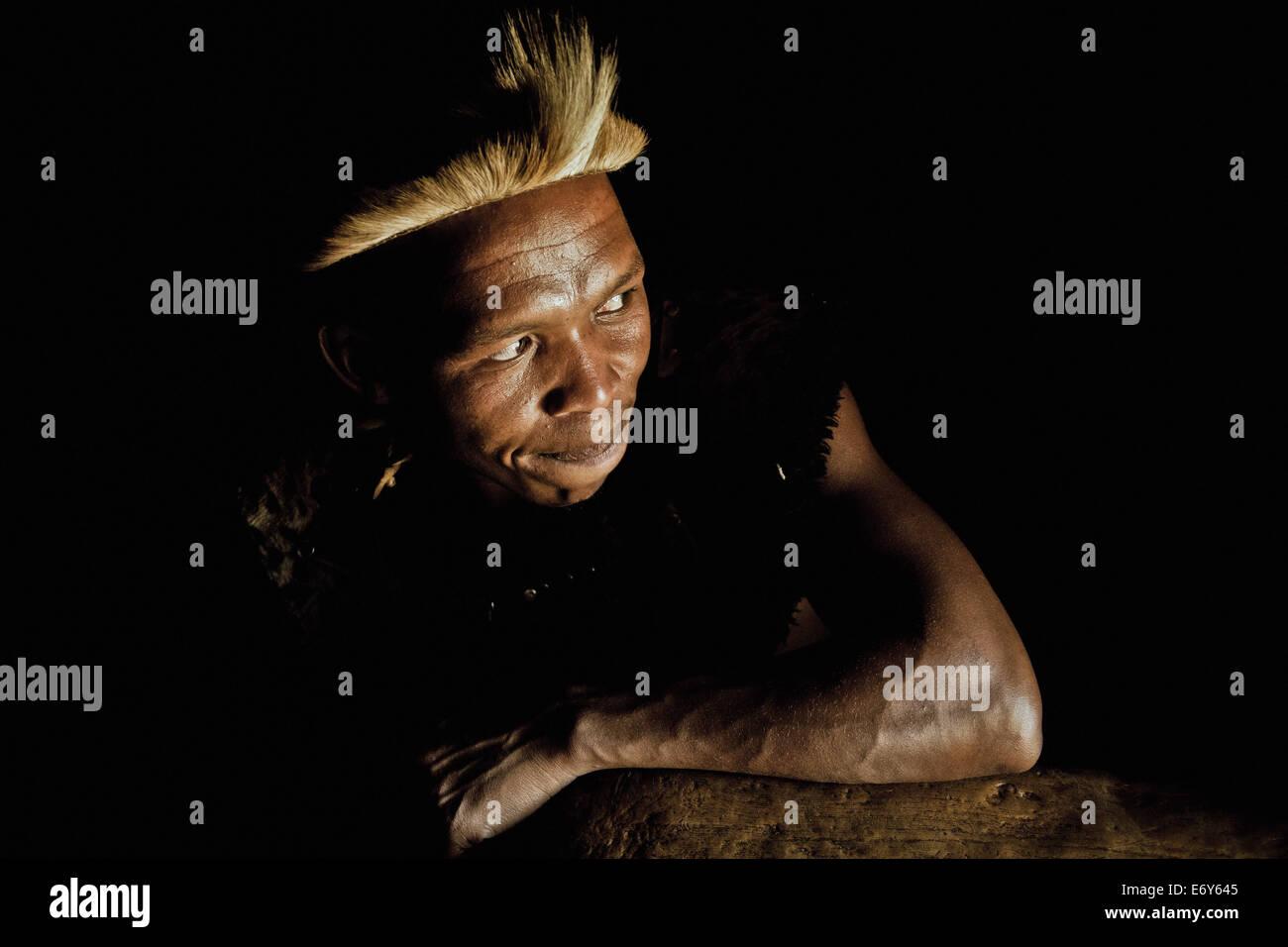 Man of the Zulu tribe, KwaZulu-Natal, South Africa, Africa - Stock Image