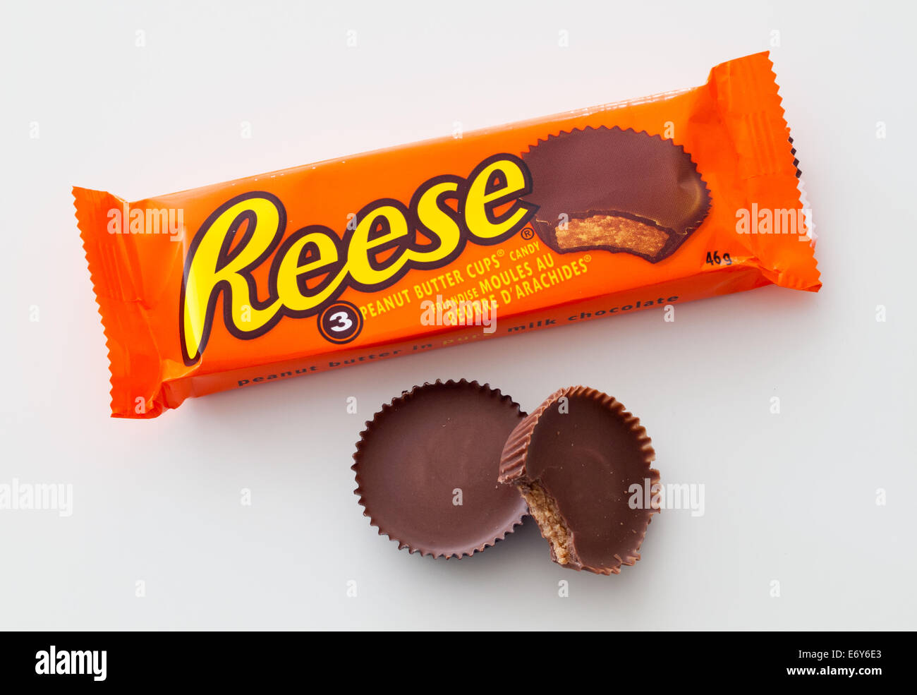 Delicious Reese's Peanut Butter Cups, produced by The Hershey Company. - Stock Image