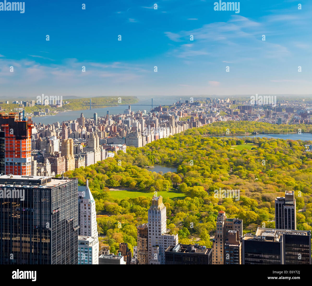 View on central park, New York - Stock Image