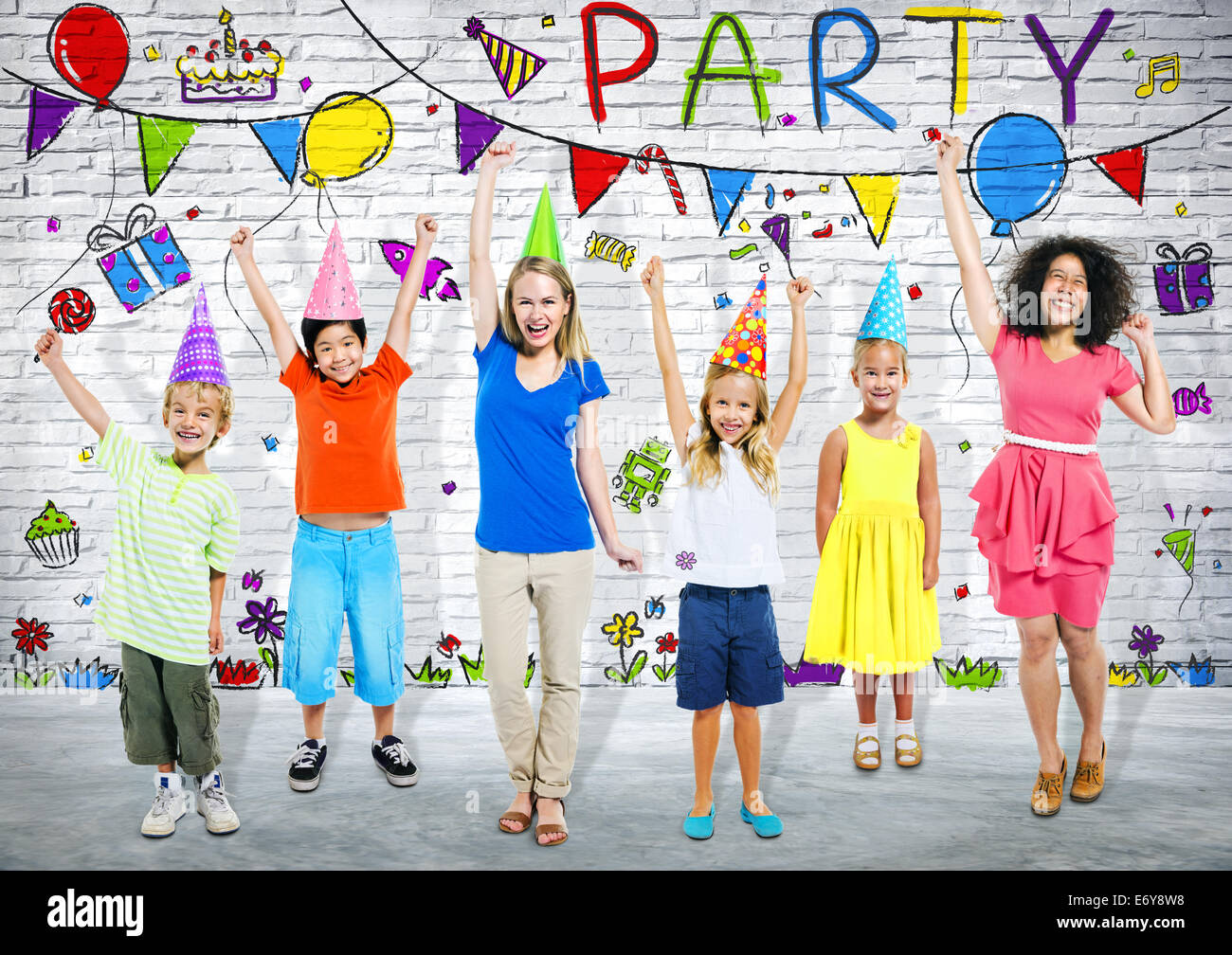 Kids Birthday Party - Stock Image