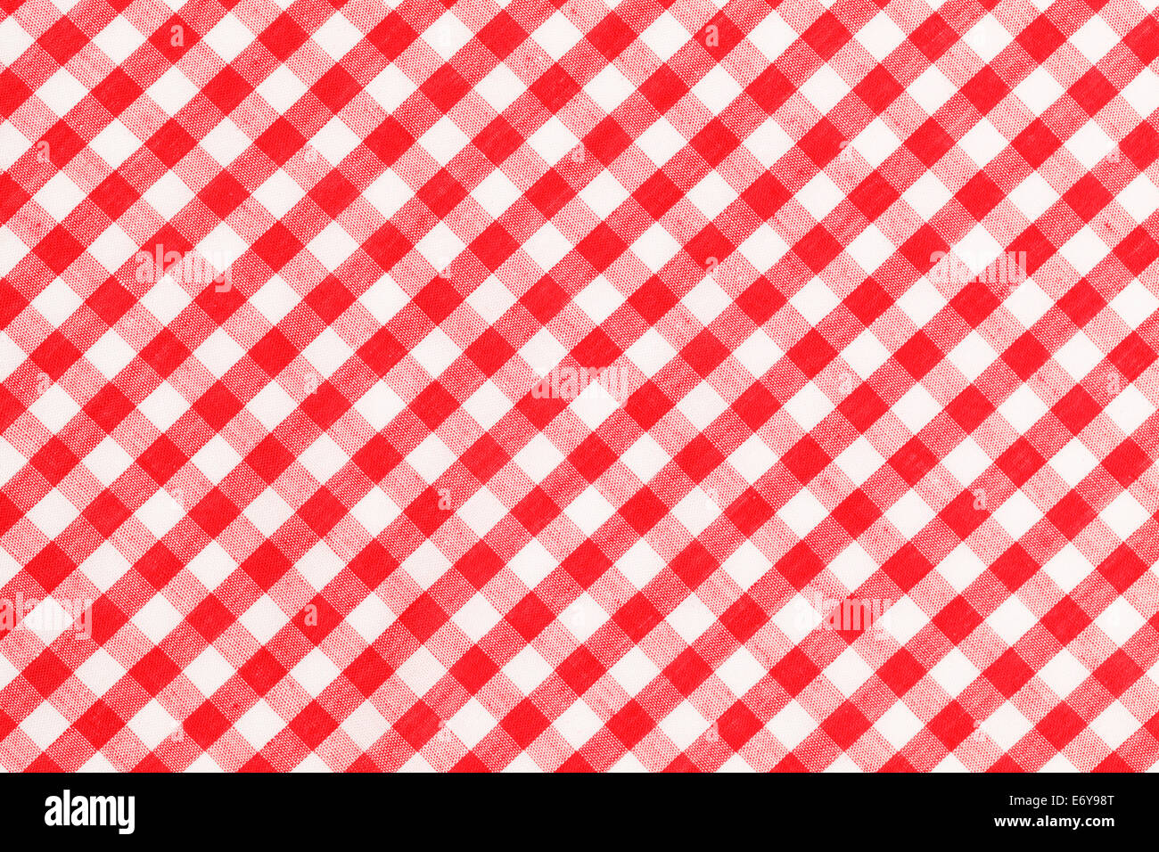 Red And White Checkered Table Cloth Background.