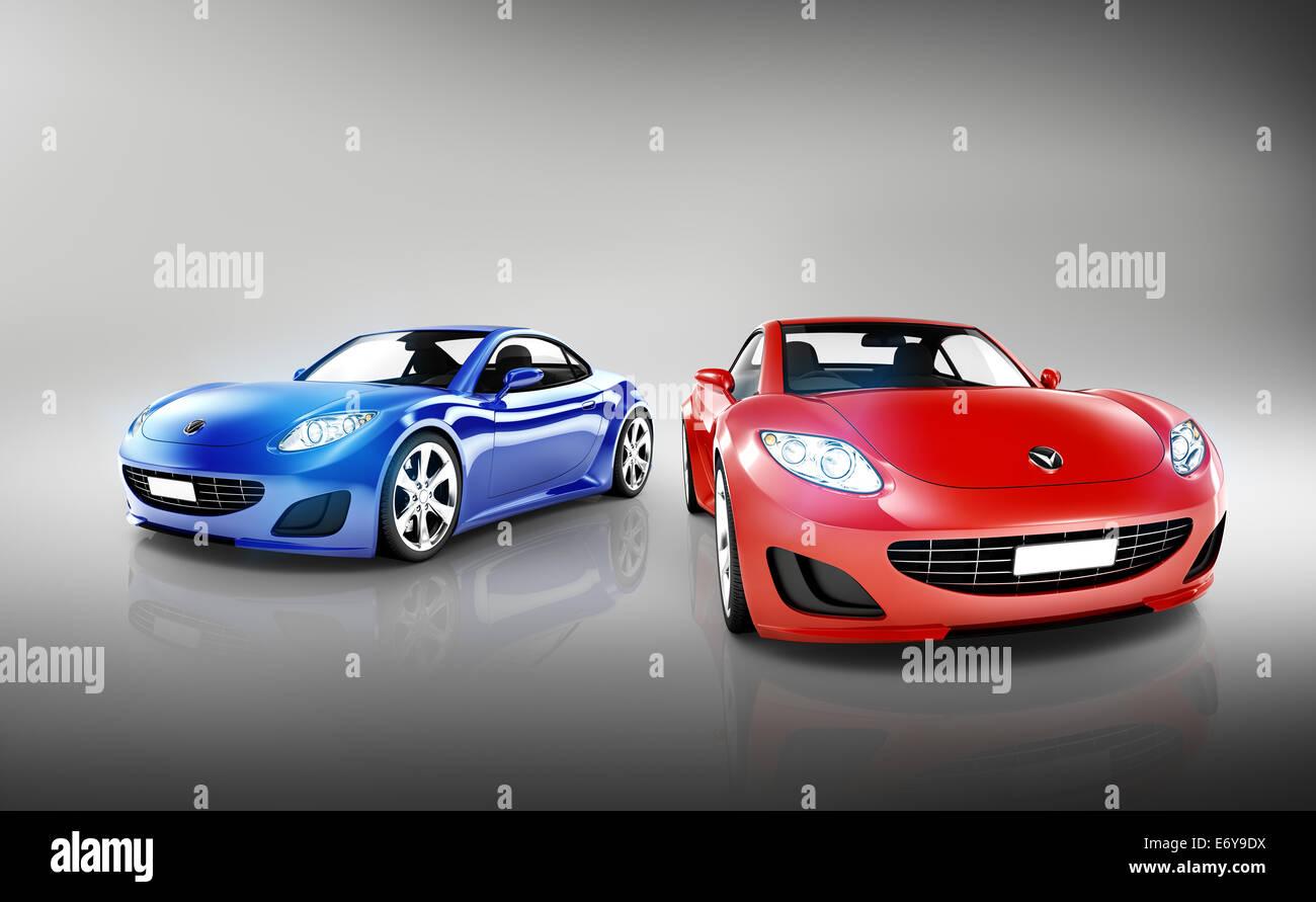 Sports Car Set - Stock Image