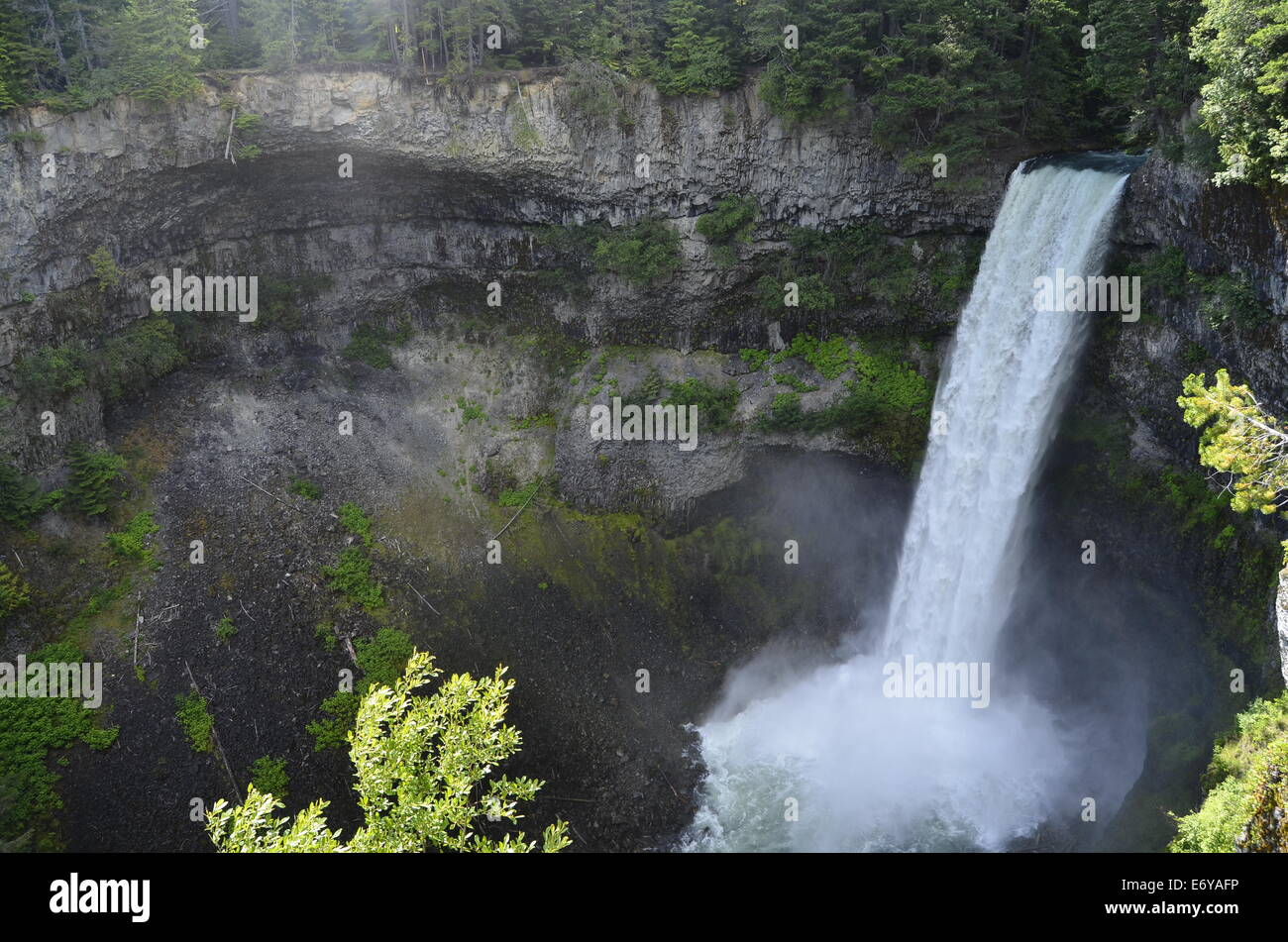 Brandywine Falls along the Sea To Sky, south of Whistler - Stock Image