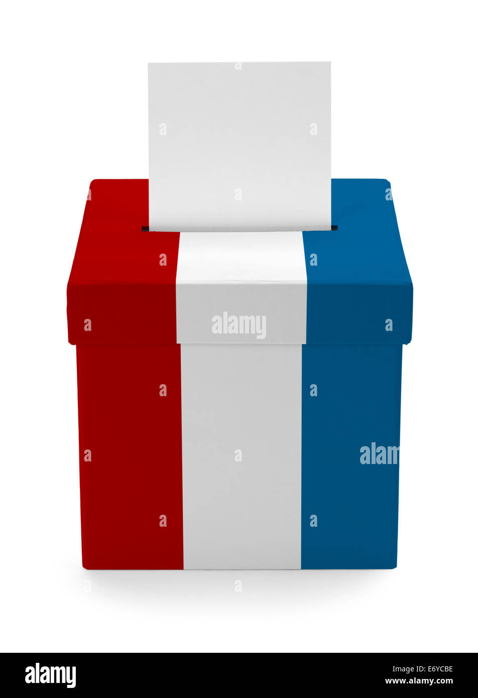 American Voting Box Isolated on White Background. - Stock Image
