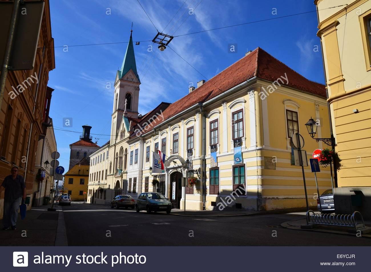 Croatian Museum of Naive Art, upper town, Zagreb, Croatia - Stock Image