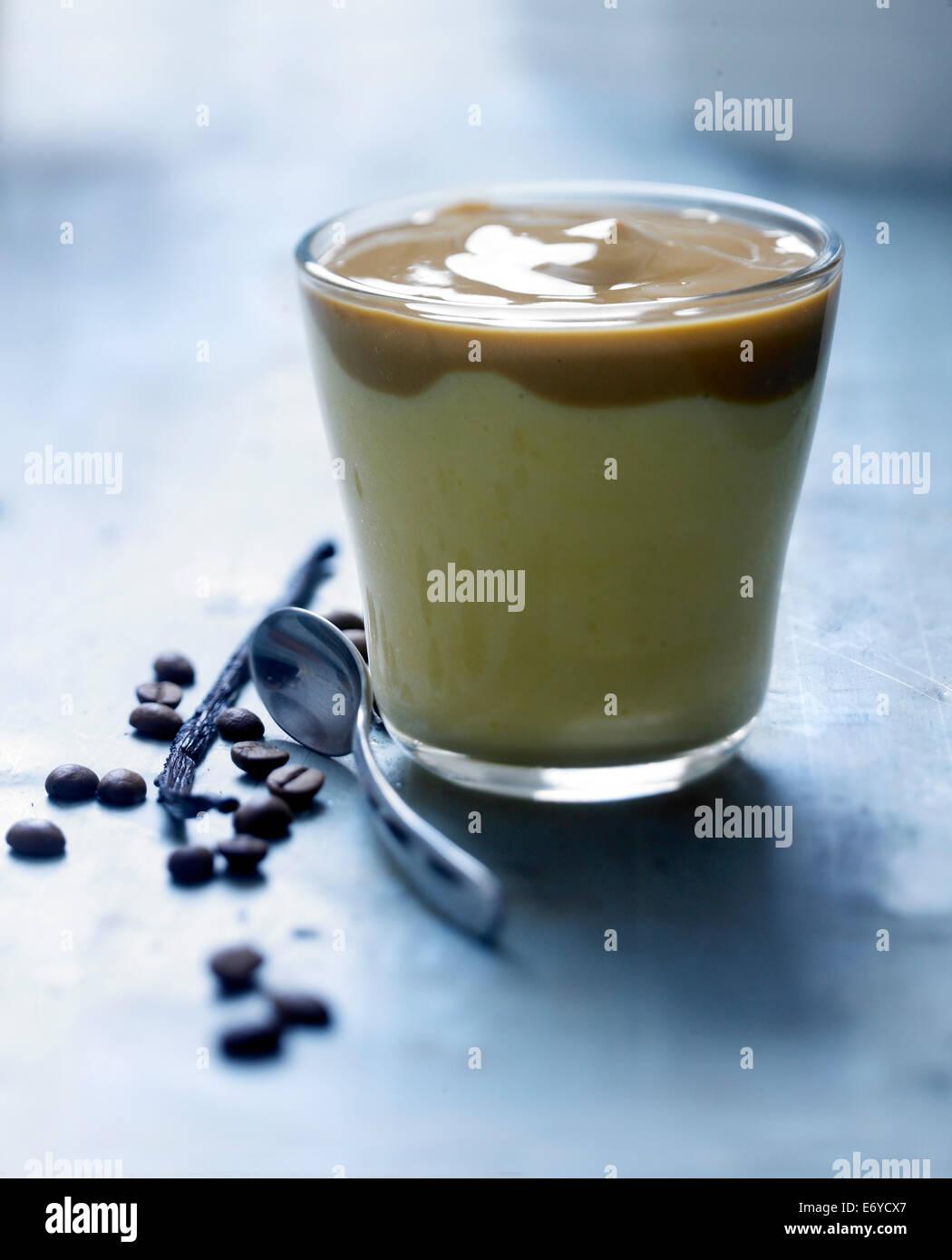 Coffee-vanilla capuccino - Stock Image