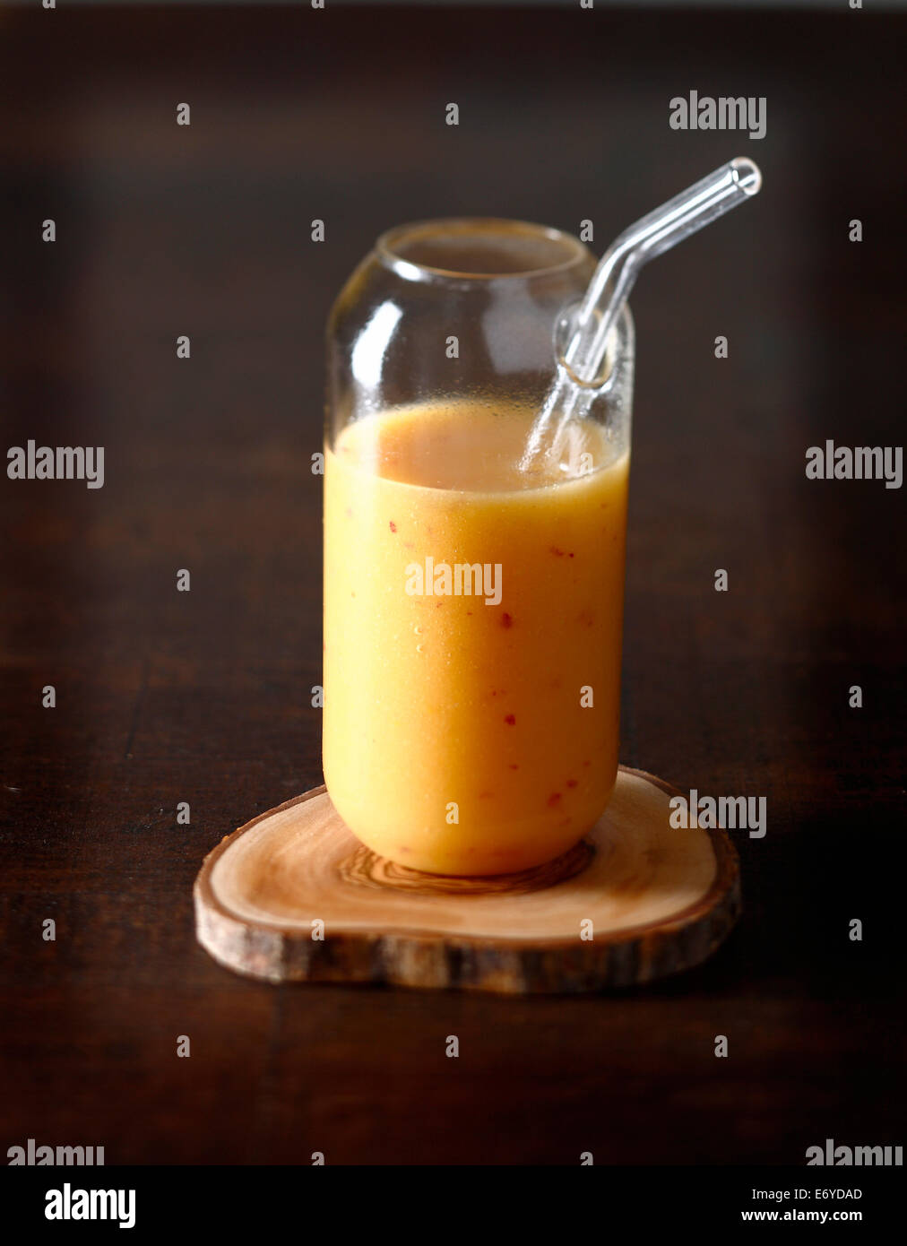 Pineapple,pear and apricot juice - Stock Image