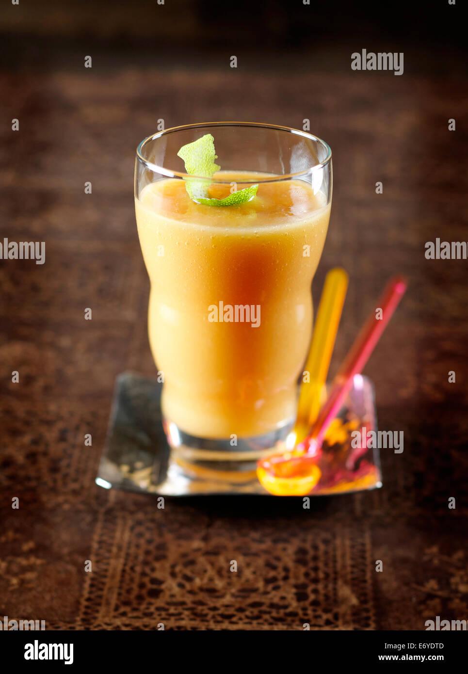 Mango smoothie - Stock Image