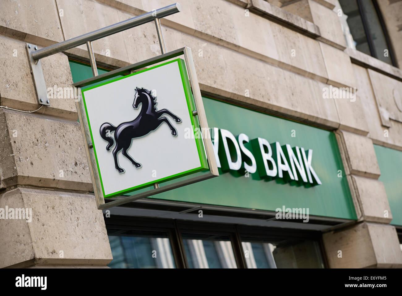 Lloyds Bank, UK. - Stock Image