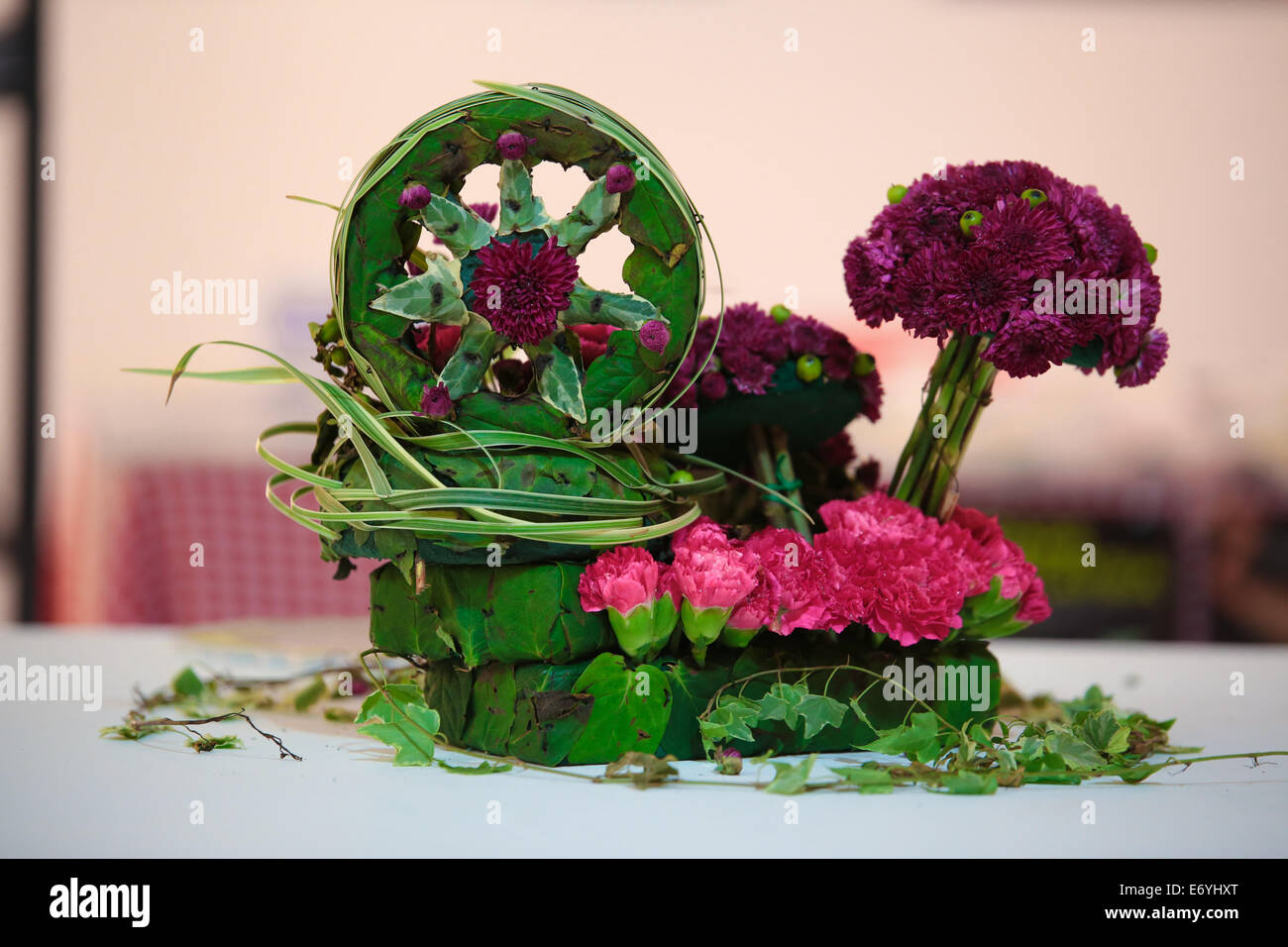 Tabletop Flower Arrangements.   Stock Image