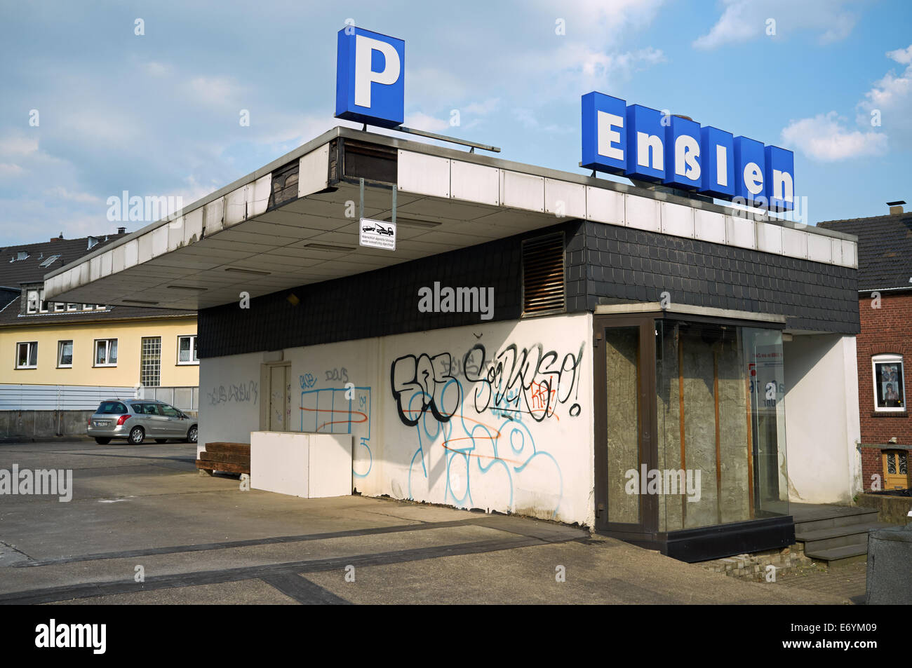 Disused commercial building Leichlingen Germany Stock Photo