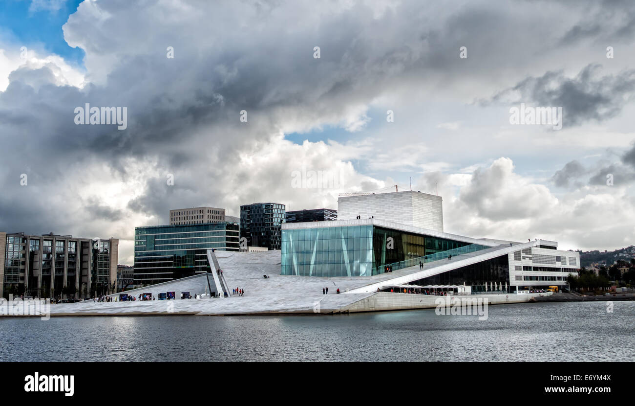 The Royal National Opera House in Oslo, Norway Stock Photo