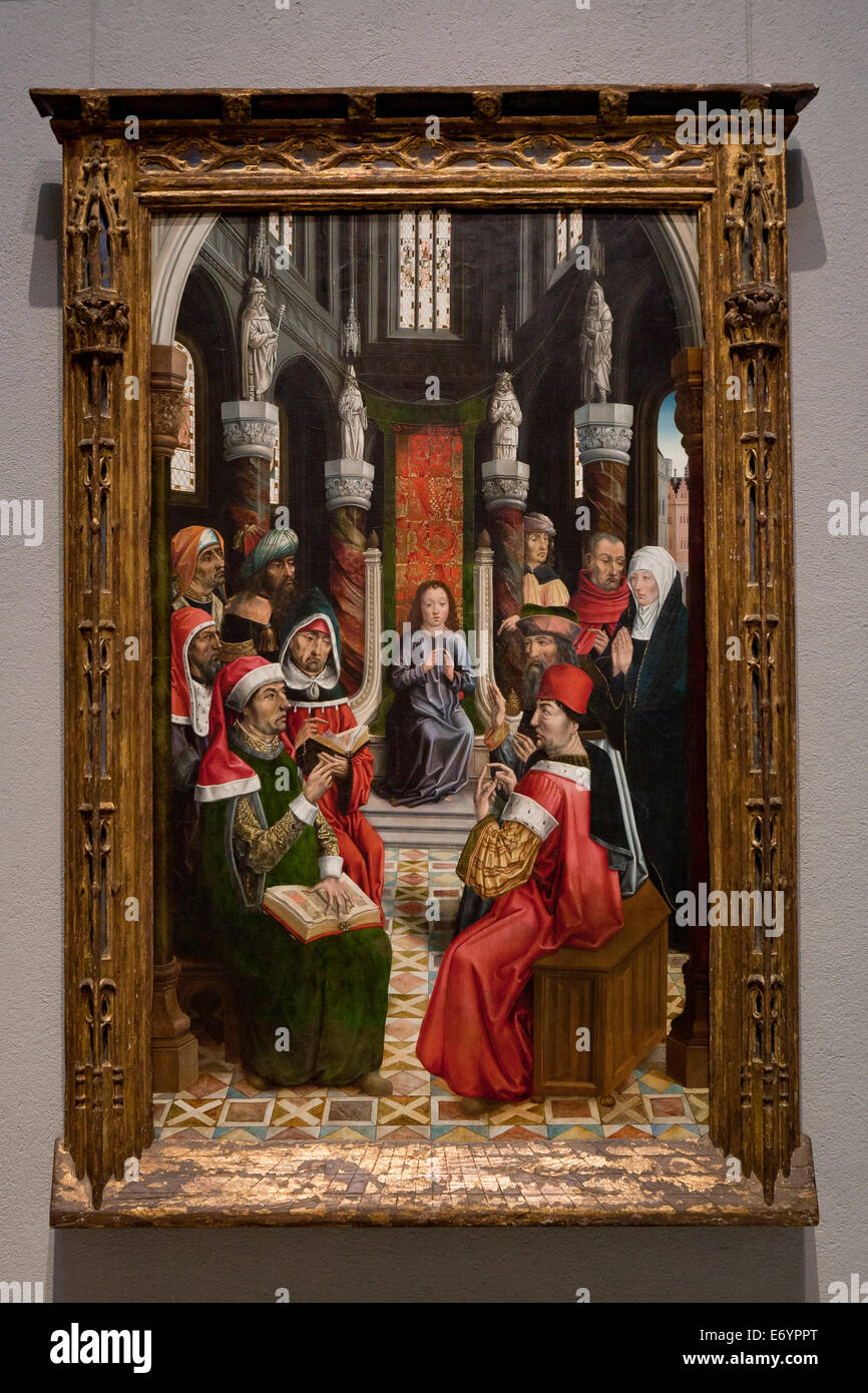 Christ among the Doctors by Master of the Catholic Kings, 1495 - Stock Image