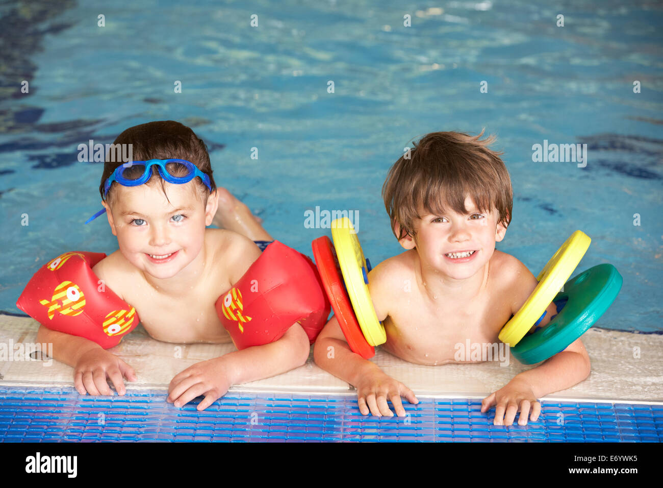 Young Boys In Swimming Pool Stock Photo 73142249 Alamy