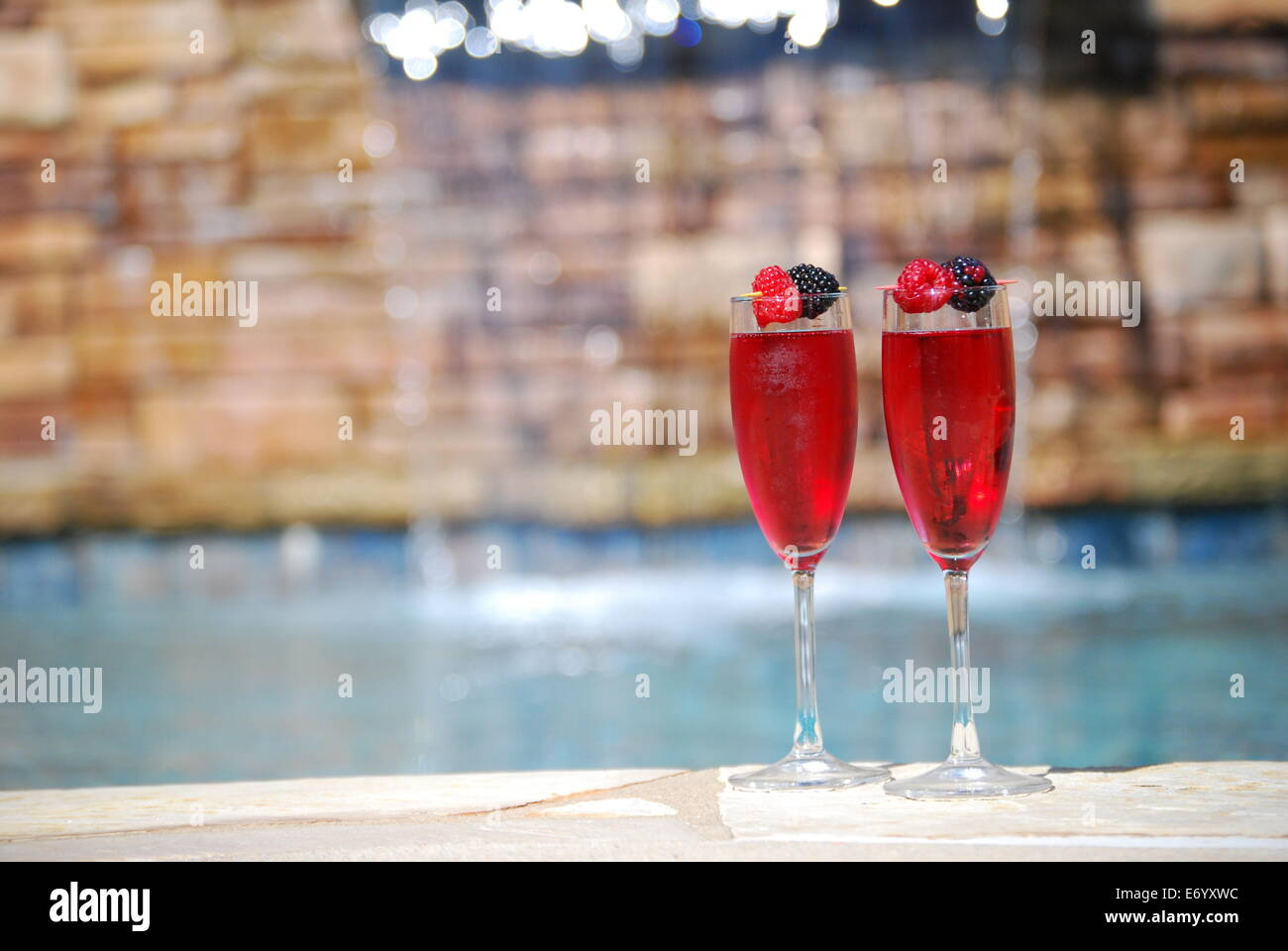 Romantic Getaway with Mimosas - Stock Image