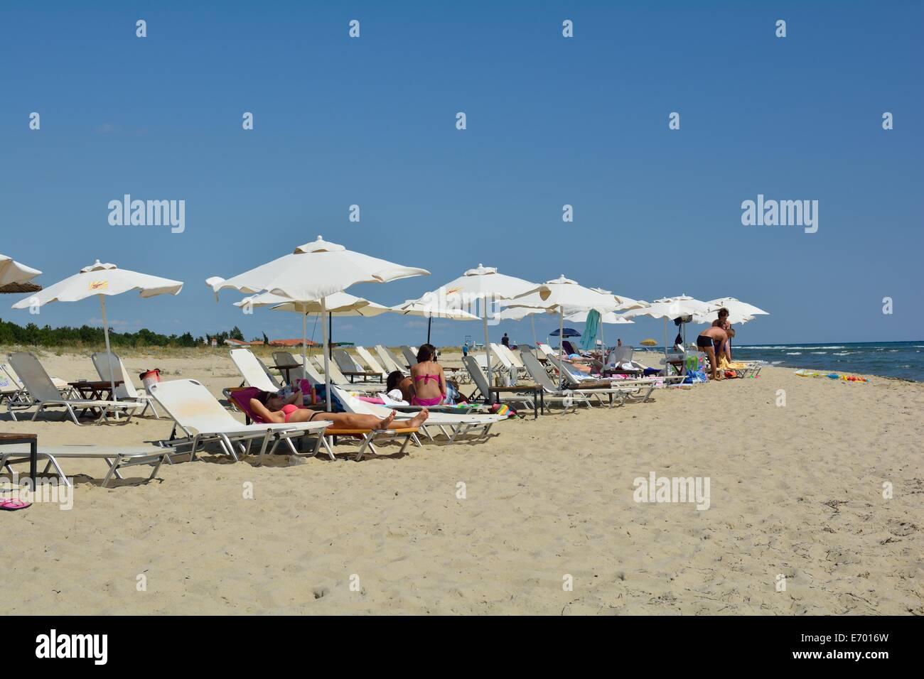 on the beach - Stock Image