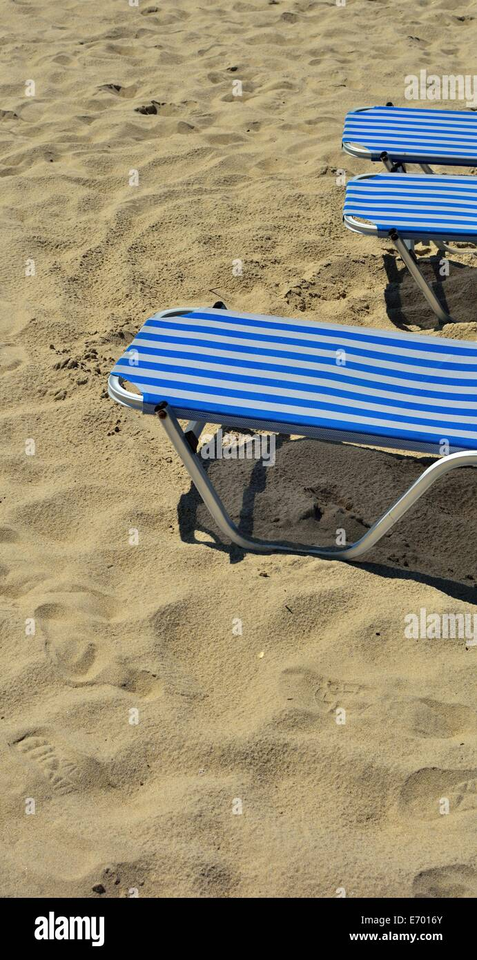 beach lounges - Stock Image