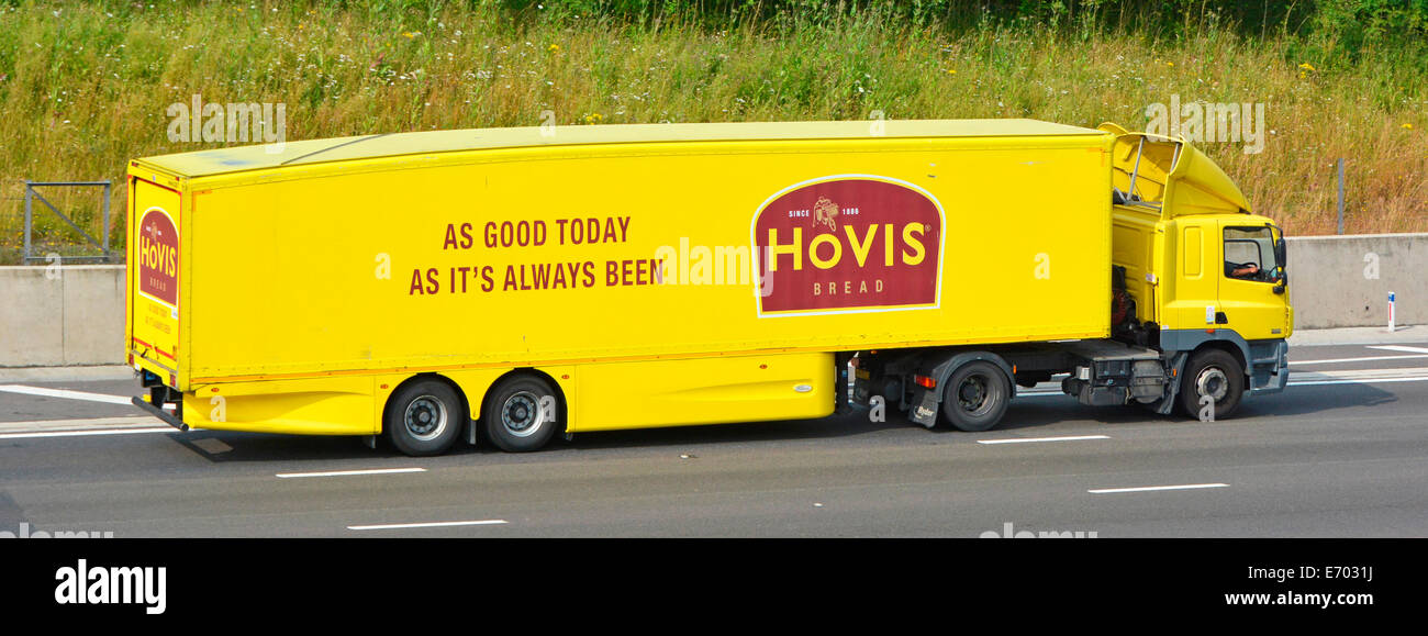 Hovis bread distribution lorry and trailer - Stock Image