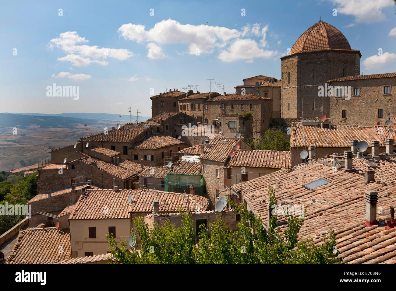View of Volterra, Tuscany, Italy - Stock Image